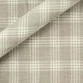 Tissu à carreaux en chanvre et laine