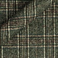 Tissu à carreaux en alpaga et coton