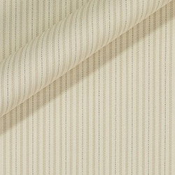 Tissu à fines rayures en coton extensible