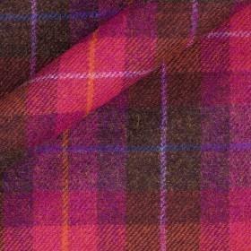 Tissu de tweed à carreaux en pure laine vierge