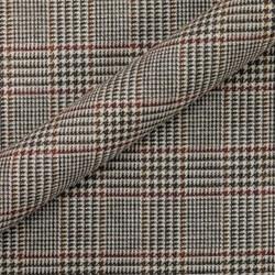 Tissu Prince de Galles en pure laine vierge, en coton et lin