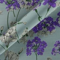 Tissu jacquard à motif floral
