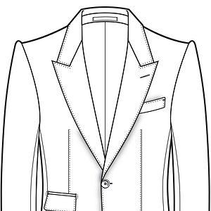 épaule Con Rollino veste, épaule cifonelli veste, épaule italienne veste,
