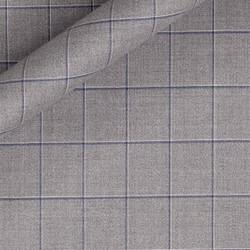 Tissu grands carreaux en pure laine vierge