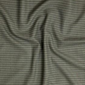 Tissu à fines rayures en double retors en pure laine vierge
