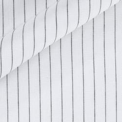 Tissu à rayures en pur lin
