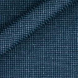 Tissu micro carreaux en pure laine vierge Super 130's
