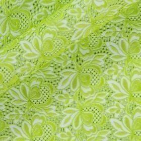 Tissu en coton avec broderie florale