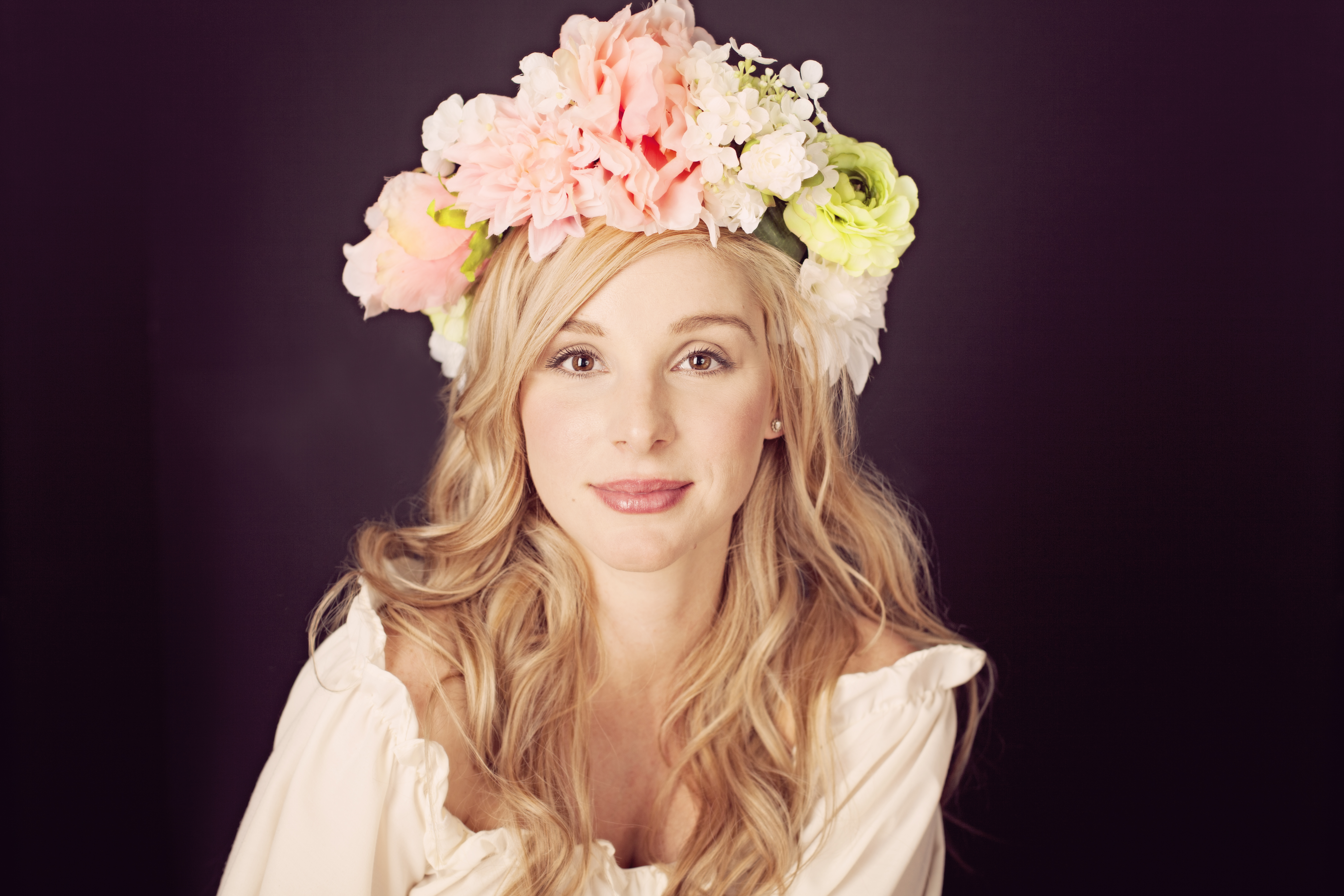 Allie with floral crown