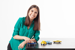businesswoman with cars
