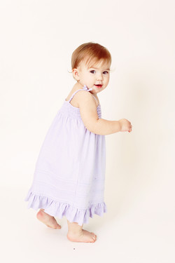 Little girl in nightgown