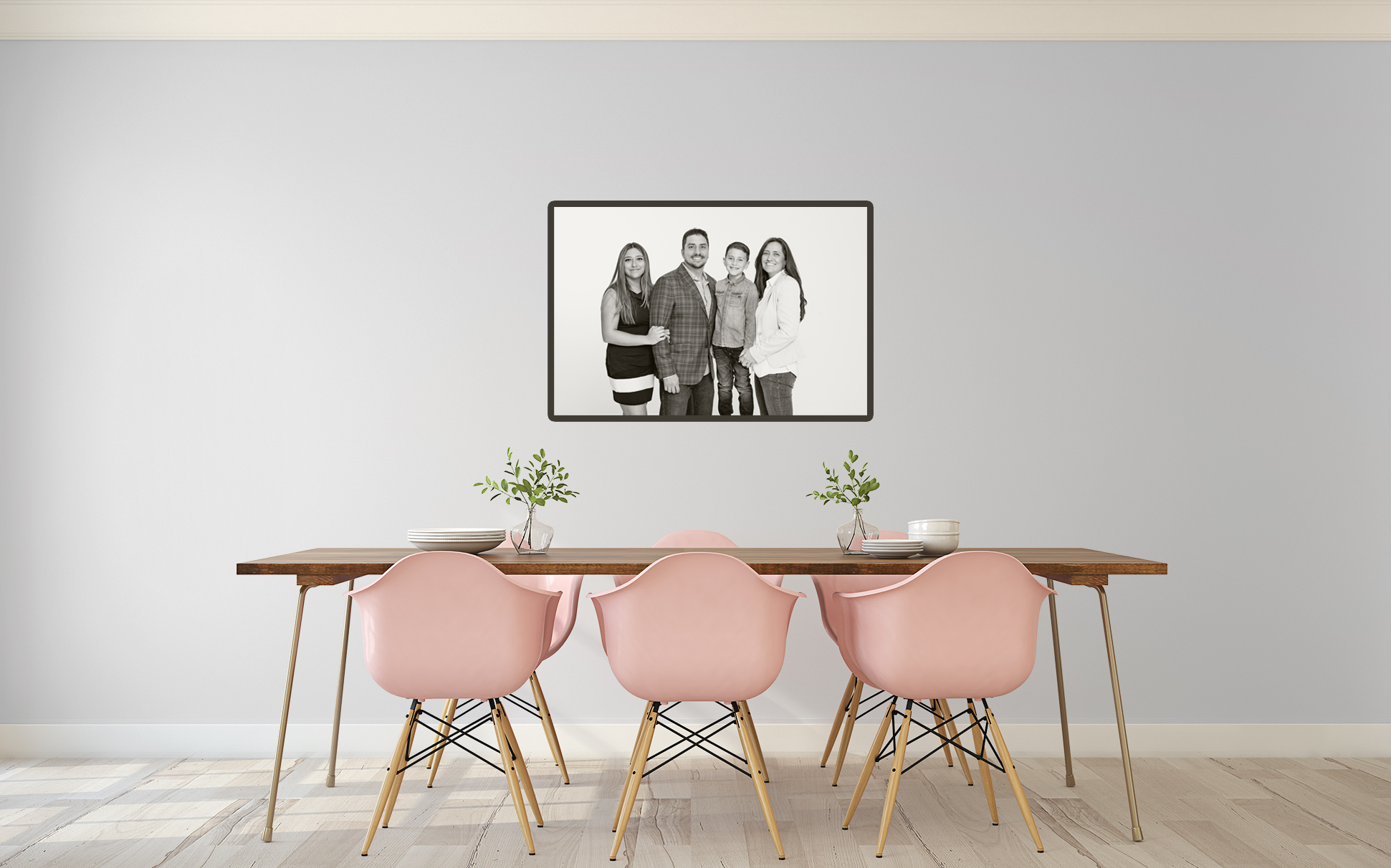 a Dining room family portrait
