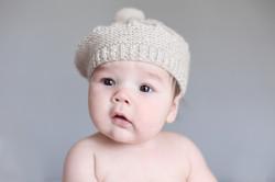 baby in knit cap