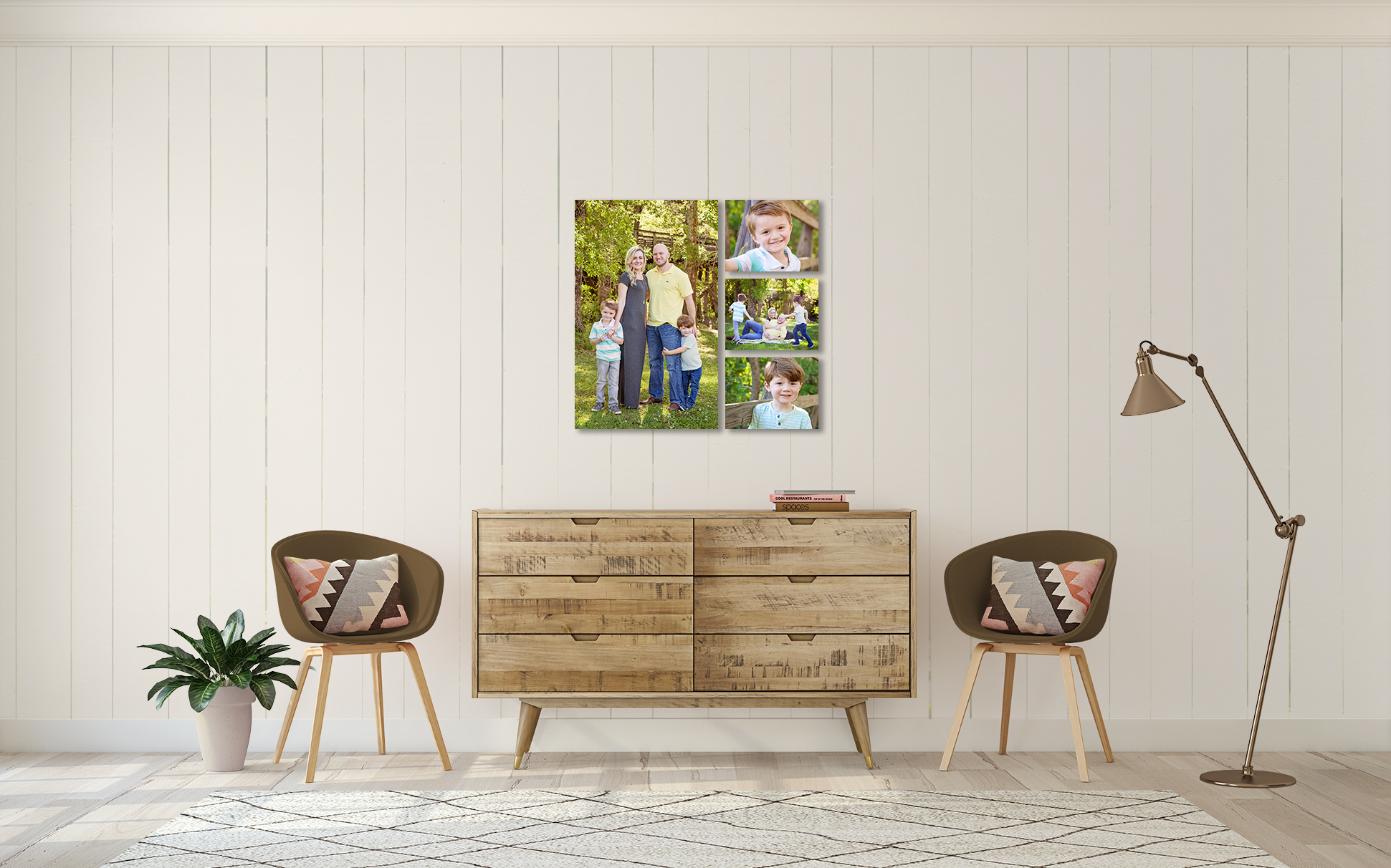 Hall family of 4 rustic