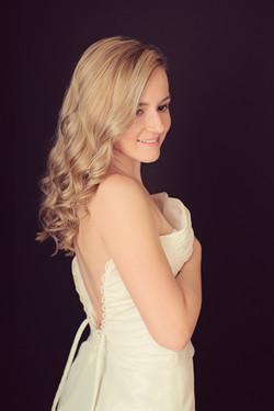 Nicole in wedding dress