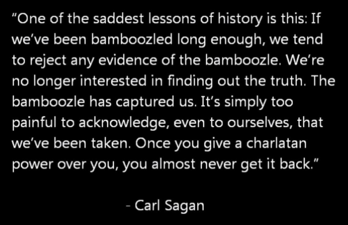 Carl Sagan Bamboozled