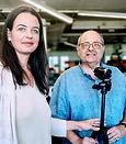 Hanna Reiner, Vize-Chefredakteurin der Vorarlberger Nachrichten, mit Coach Uwe J. Hackbarth