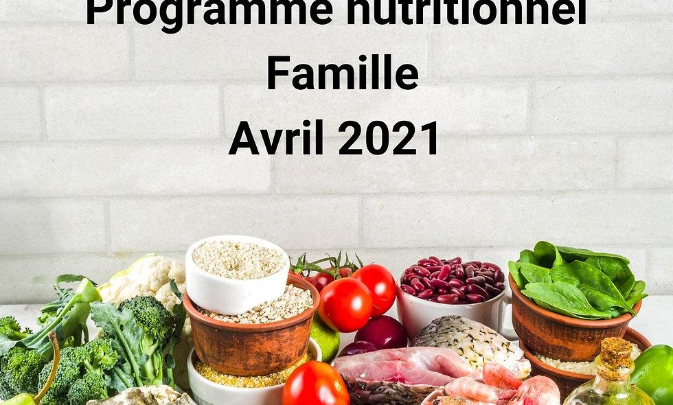 Programme nutritionnel Familial
