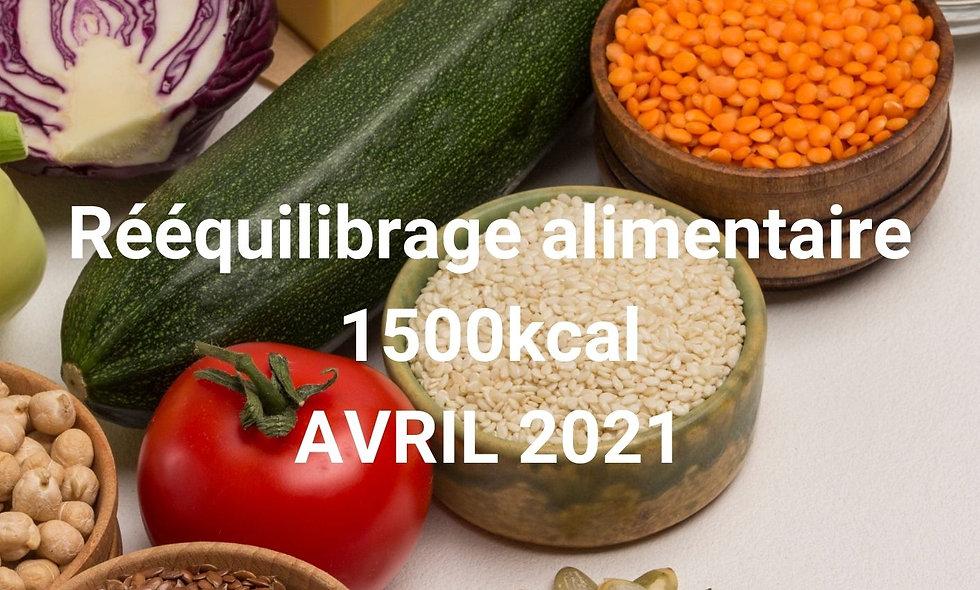 Rééquilibrage alimentaire 1500kcal