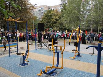 В микрорайоне Солнечный появилась новая спортивная площадка