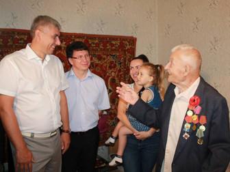 Поздравление ветерана ВОВ с 90-летием Рудика Андрея Яковлевича