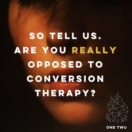"""End Conversion """"Therapy"""" Now."""