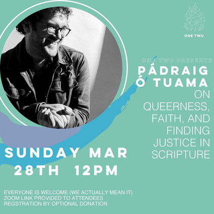 """""""On Queerness, Faith, And Finding Justice In Scripture: With Pádraig Ó Tuama"""" #NotChurch Event"""