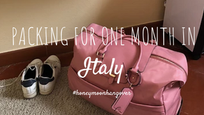 Packing for one month in Italy