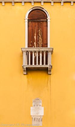 Shuttered Window & Balcony