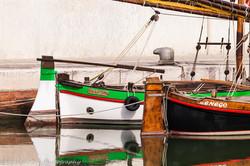 Moored Sail Boats, Detail