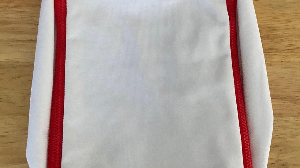 SHOWER TOILET BAG - RED & WHITE