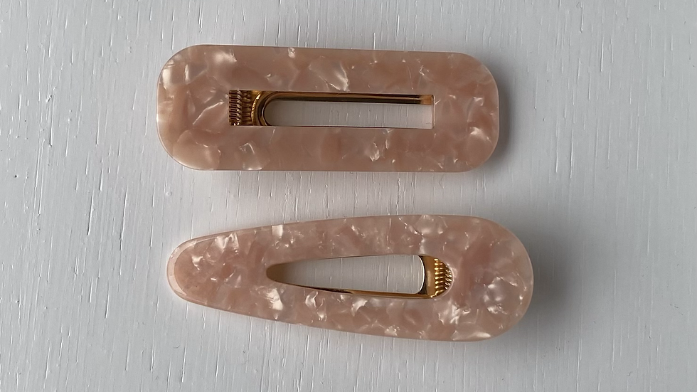HAIR CLIPS SET BABY PINK #184