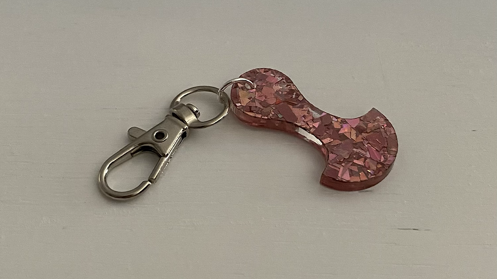 TROLLEY TOKEN KEY CHAIN - PARTY BABY PINK #831