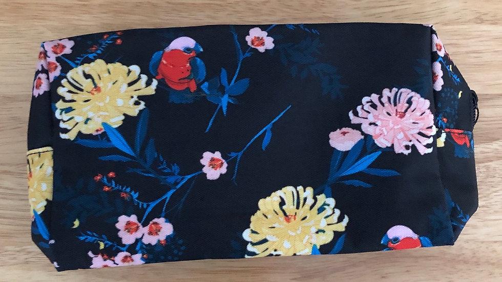 TRAVEL BAG - PINK & YELLOW FLOWER