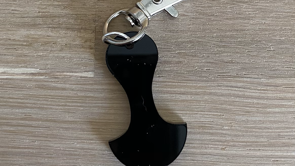 TROLLEY TOKEN KEY CHAIN - BLACK
