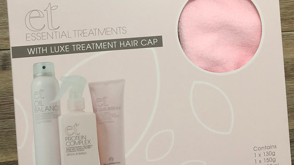 ESSENTIAL TREATMENTS WITH LUXE TREATMENT HAIR CAP