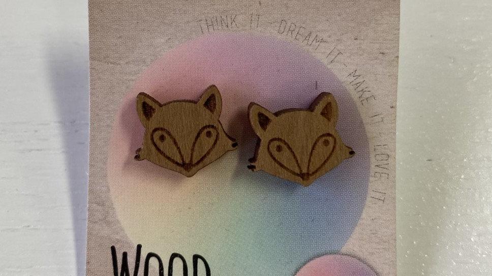 WOOD STUDS FOX #206