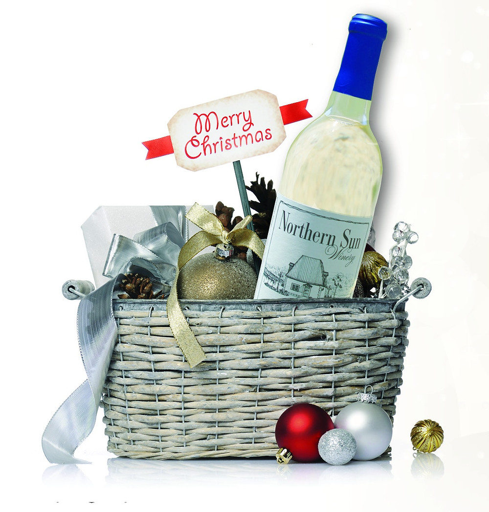 Wine gift basket from Northern Sun Winery, Bark River, MI