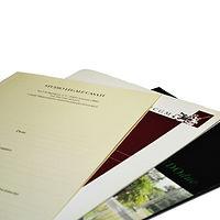 Cartelline professionali, buste, carta da lettera, carta intestata