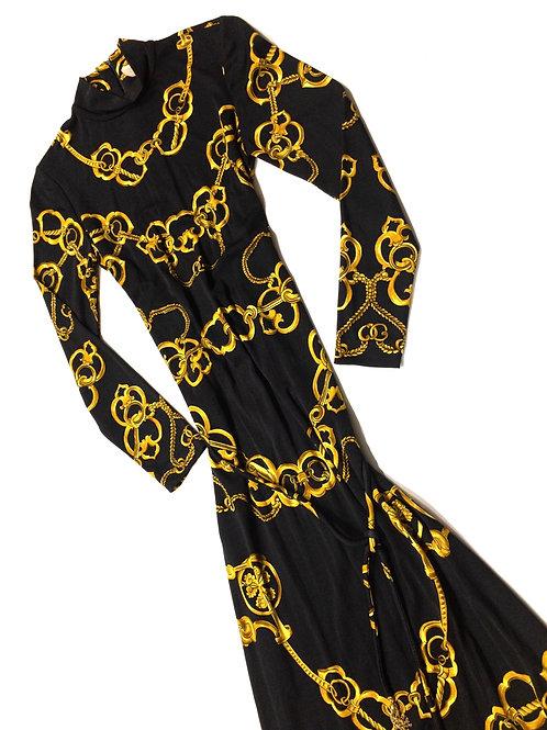 Baroque Chain Print Dress