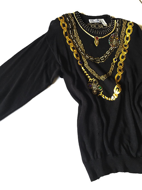 Gold Chain Sweater