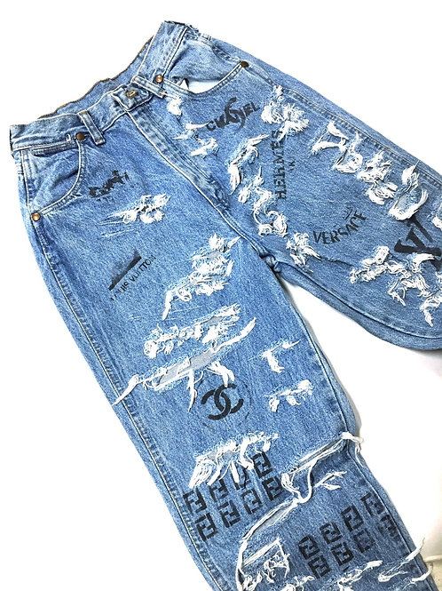 Design Mix Painted Denim Pant