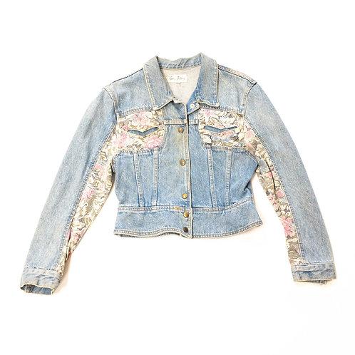Paris Blues Floral Trim Denim Jacket