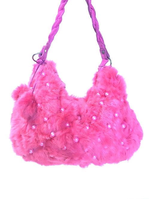 Pussy Pink Fur Purse
