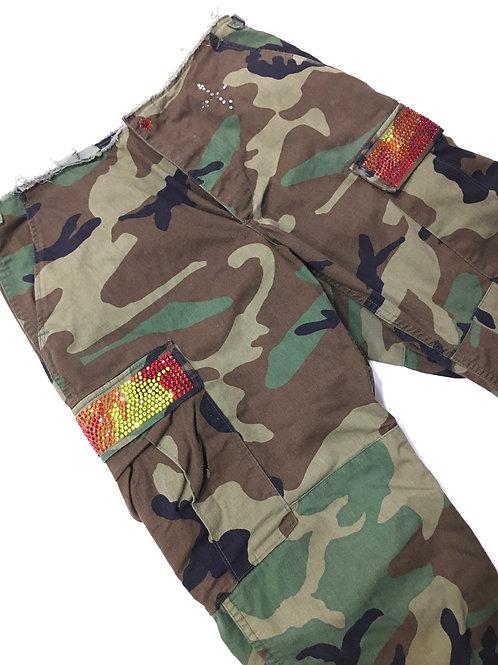 Bling Camouflage Capri Pant
