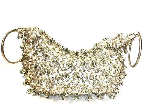 Sequin Silver Bag