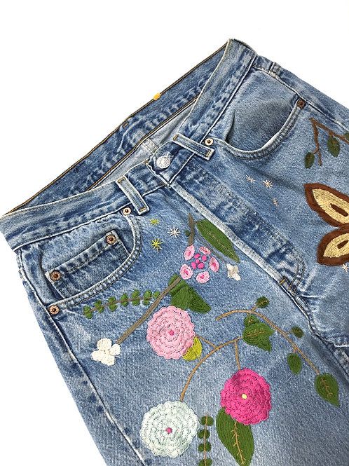 Flower Power VTG Denim