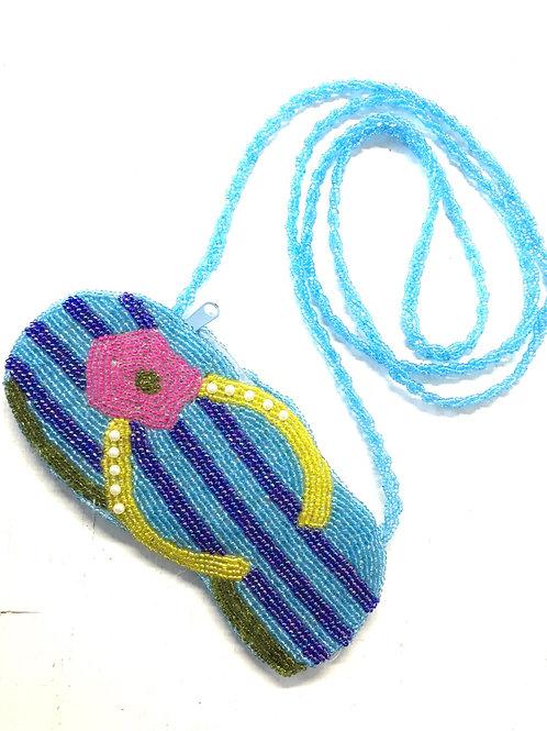 Beaded Flip Flop Mini Pocketbook