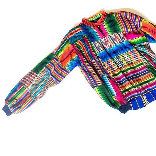 Multi Print Color Zip Jacket