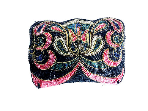 Beaded Clutch Makeup Bag